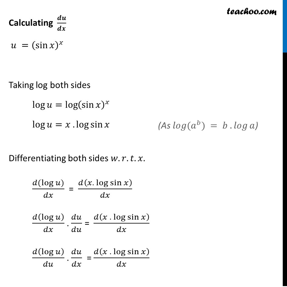 Ex 5.5, 8 - Chapter 5 Class 12 Continuity and Differentiability - Part 2