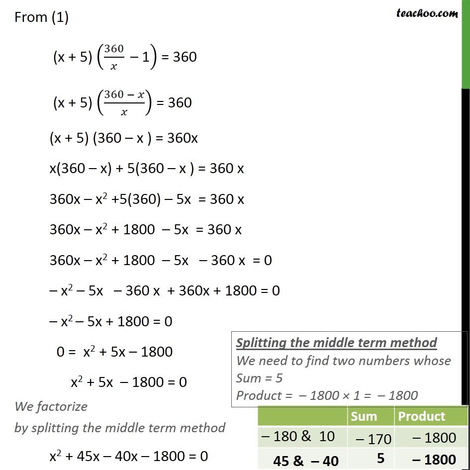 Ex 4.3, 8 - Chapter 4 Class 10 Quadratic Equations - Part 2