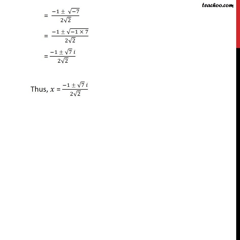 Ex 5.3, 7 - Chapter 5 Class 11 Complex Numbers - Part 2