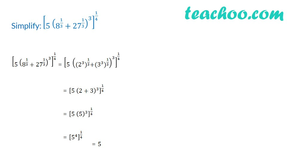 Practice Questions on Laws of Exponents - Part 12