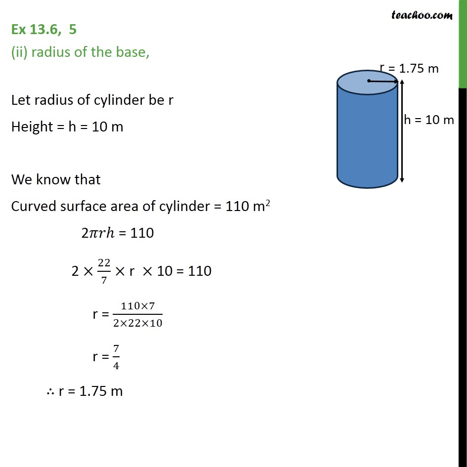 Ex 13.6, 5 - Chapter 13 Class 9 Surface Areas and Volumes - Part 2