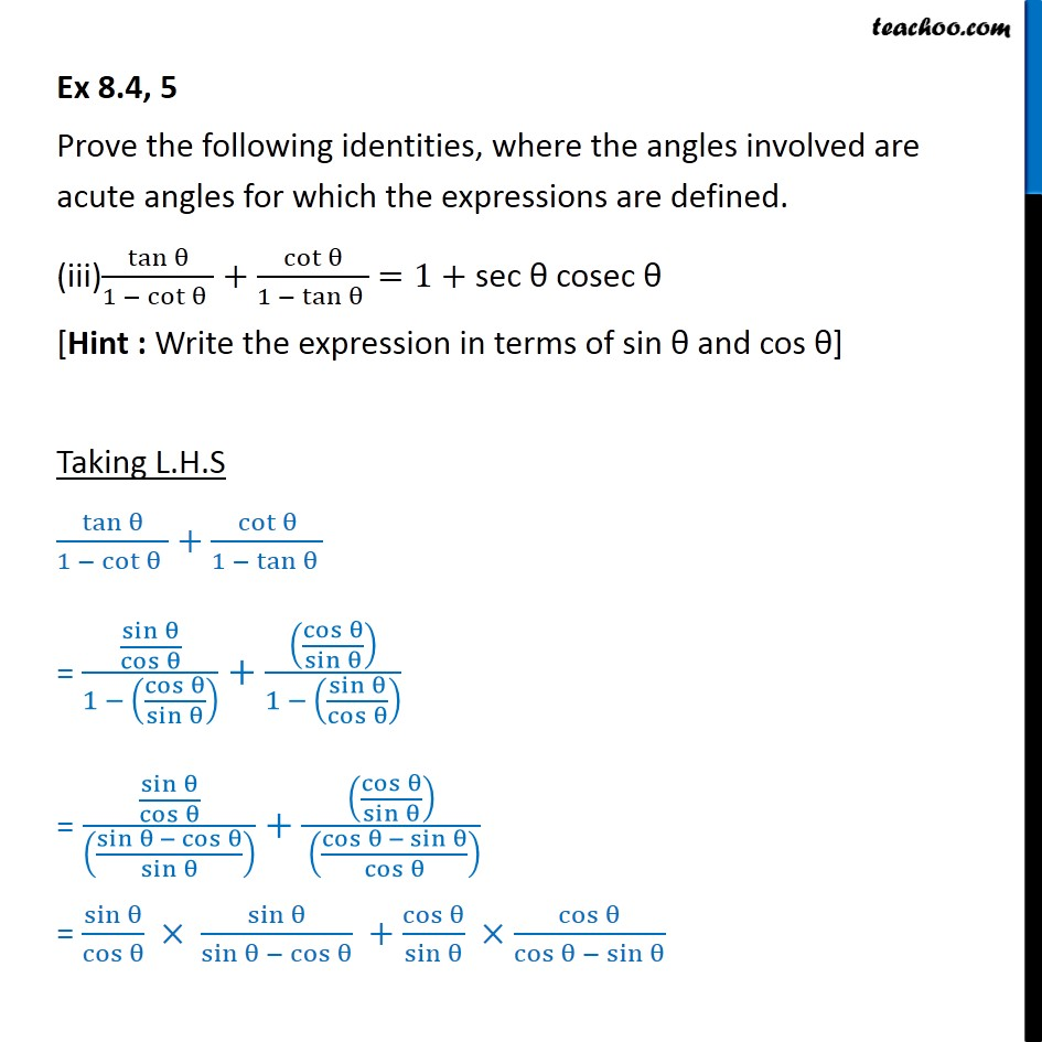 Ex 8.4, 5 - Chapter 8 Class 10 Introduction to Trignometry - Part 5