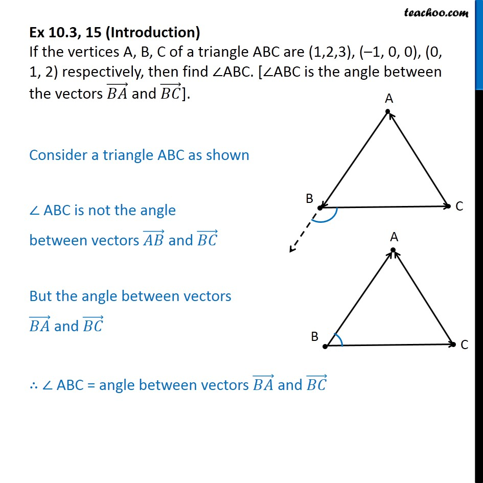 Ex 10.3, 15 - If vertices A, B, C of triangle ABC are (1, 2, 3) - Ex 10.3
