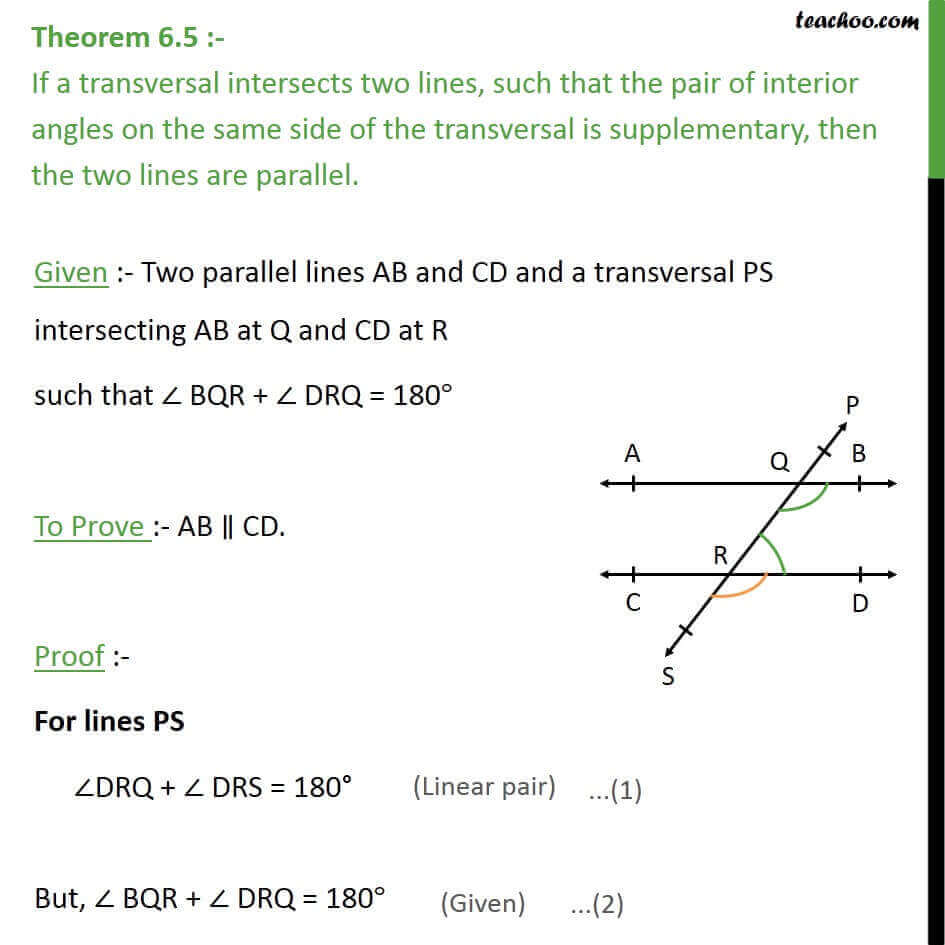 Theorem 6.5 - Class 9 - If interior angles are supplementary, lines.jpg