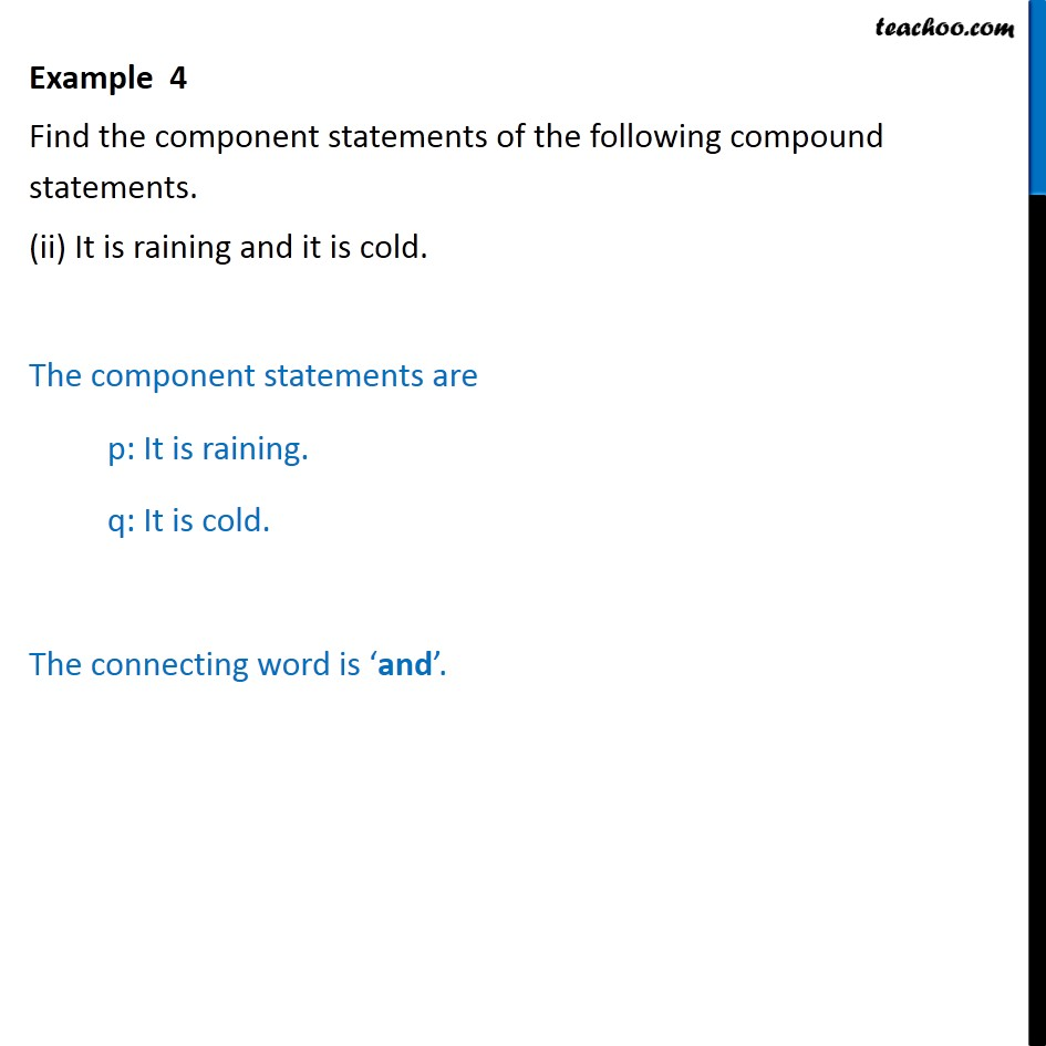 Example 4 - Chapter 14 Class 11 Mathematical Reasoning - Part 2