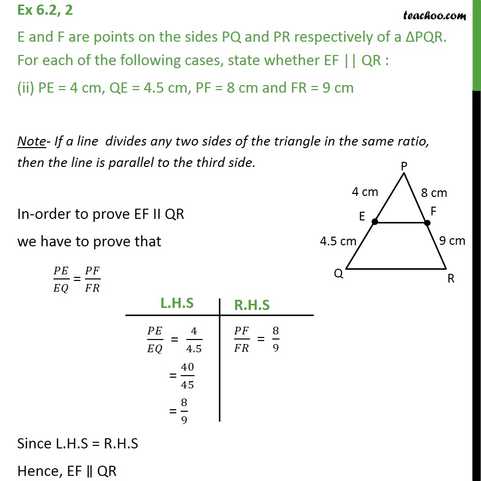Ex 6.2, 2 - Chapter 6 Class 10 Triangles - Part 2
