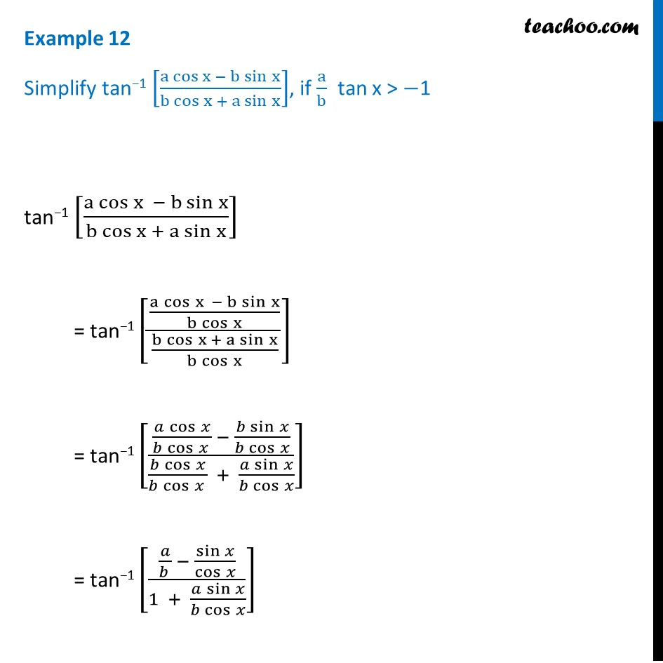 Example 12 - Chapter 2 Class 12 Inverse Trigonometric Functions - Part 2