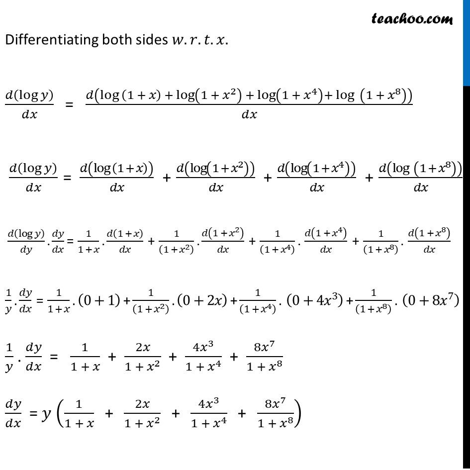 Ex 5.5, 16 - Chapter 5 Class 12 Continuity and Differentiability - Part 2