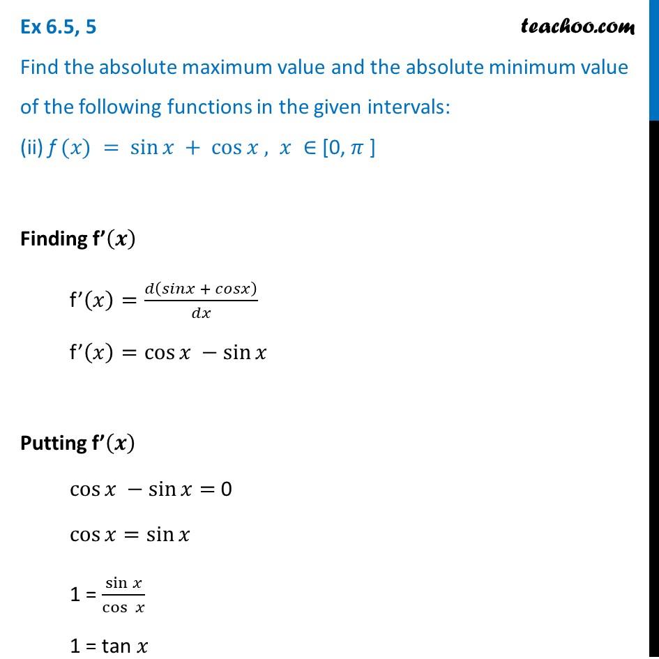 Ex 6.5,5 - Chapter 6 Class 12 Application of Derivatives - Part 3