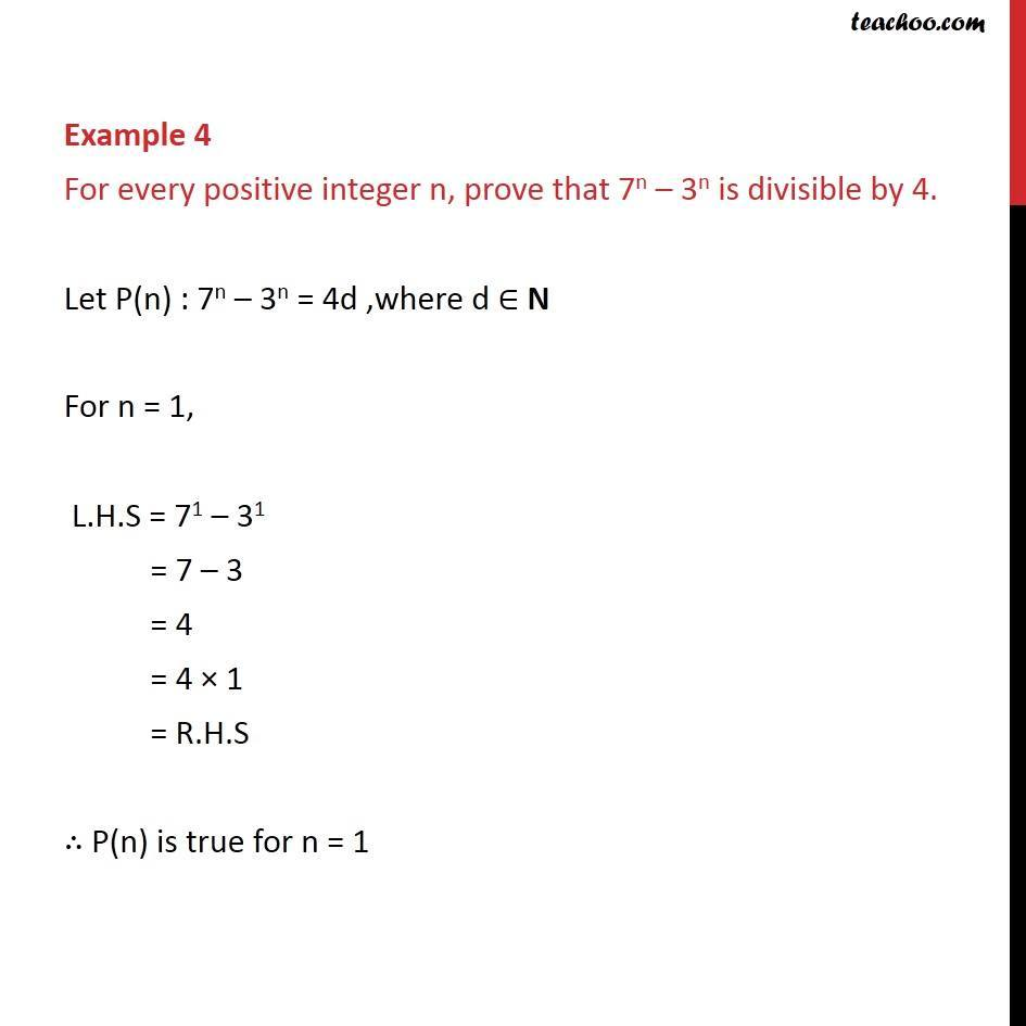 Example 4 - Chapter 4 Class 11 Mathematical Induction - Part 2