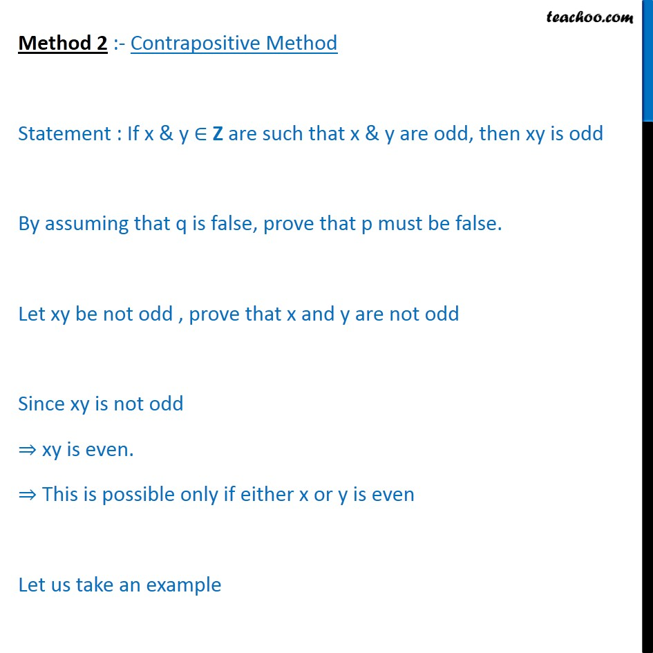 Example 13 - Chapter 14 Class 11 Mathematical Reasoning - Part 4