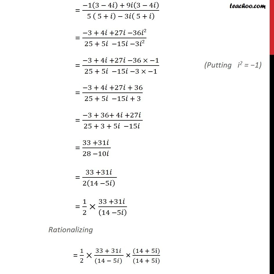 Misc 3 - Chapter 5 Class 11 Complex Numbers - Part 2