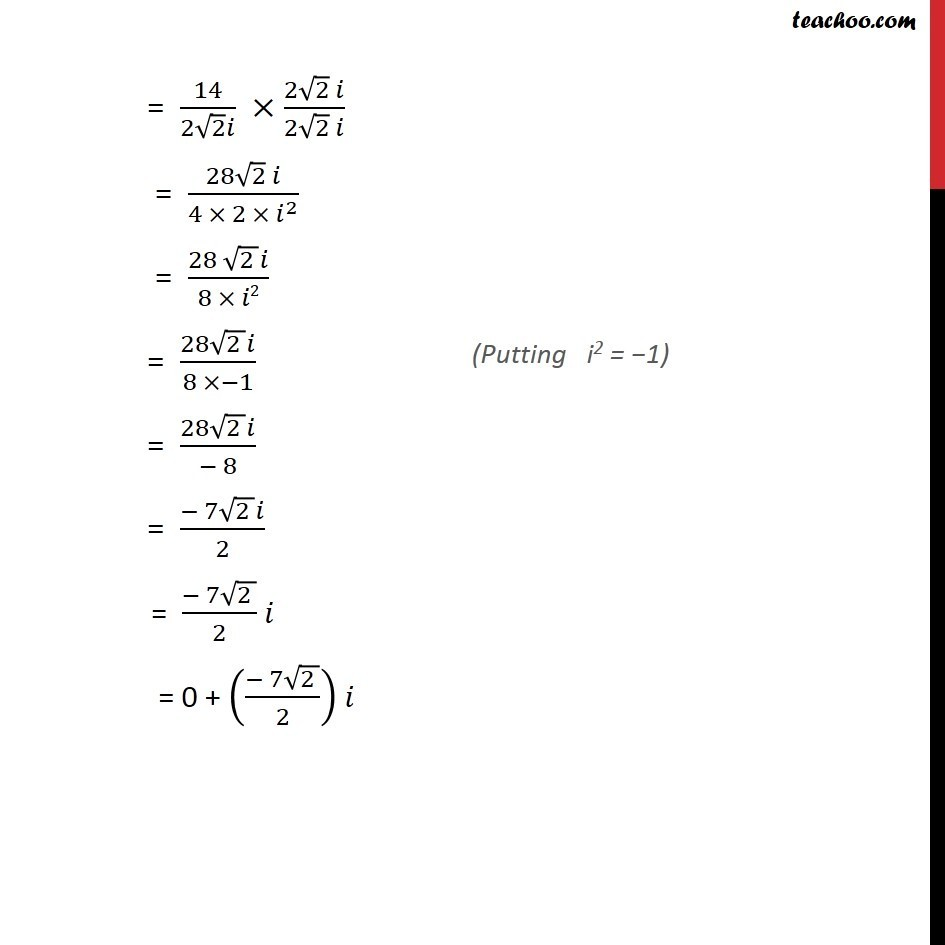 Ex 5.1, 14 - Chapter 5 Class 11 Complex Numbers - Part 2