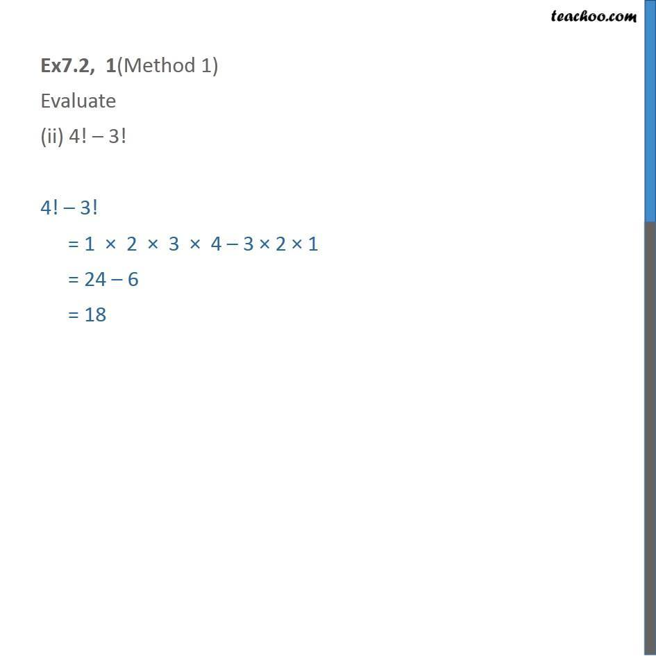 Ex 7.2,1 - Chapter 7 Class 11 Permutations and Combinations - Part 2
