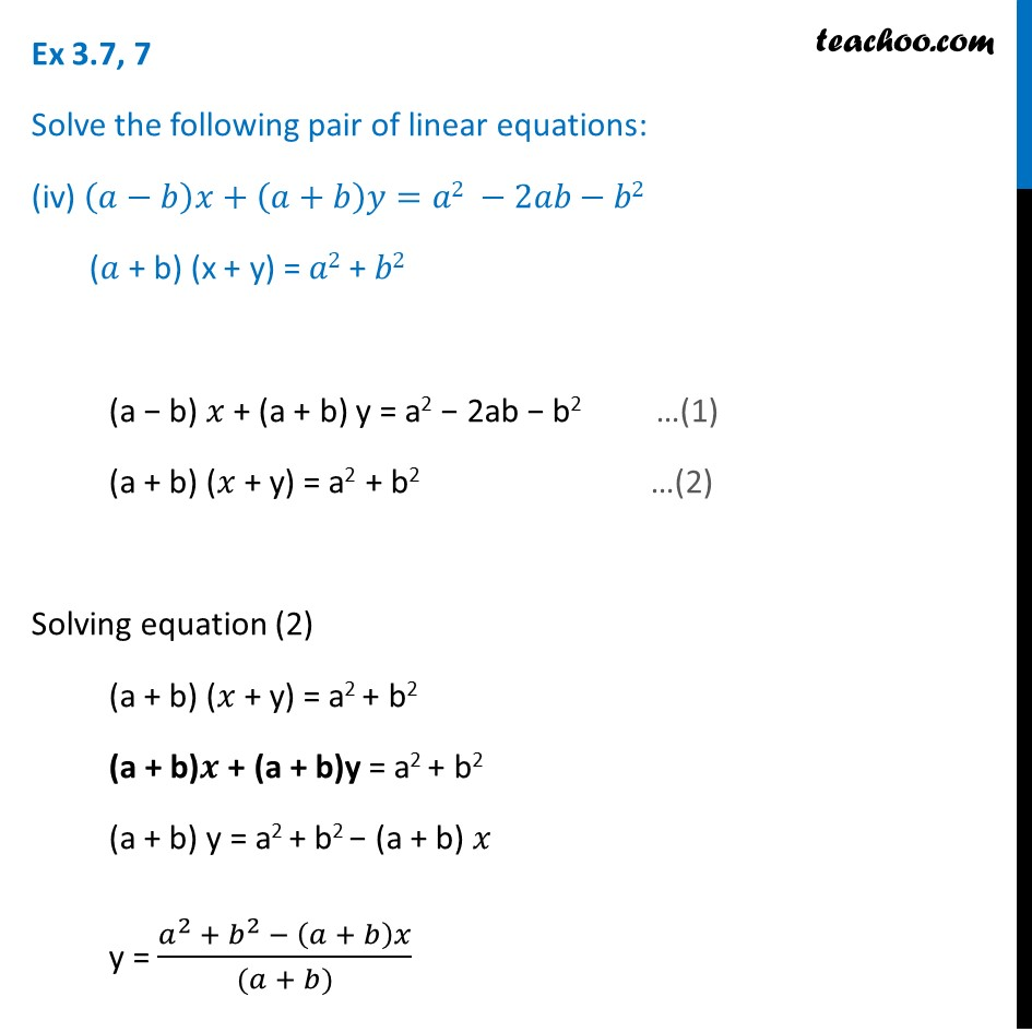 Ex 3.7, 7 (Optional) - Chapter 3 Class 10 Pair of Linear Equations in Two Variables - Part 14