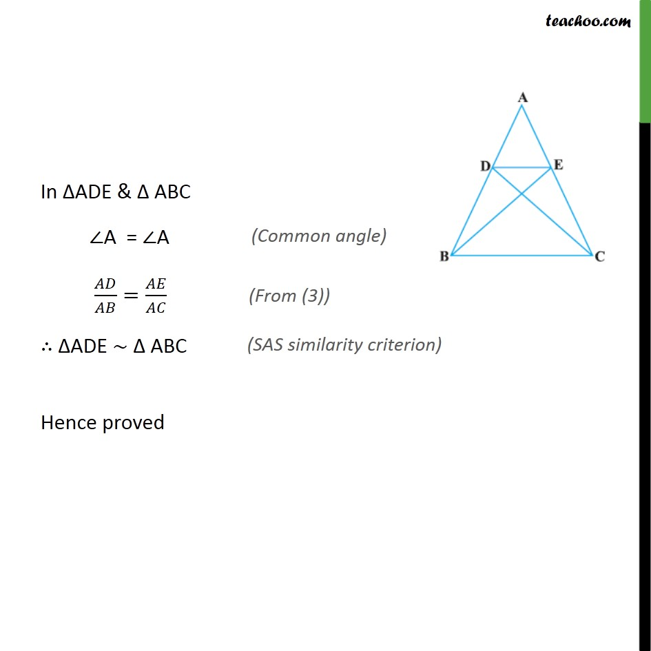 Ex 6.3, 6 - Chapter 6 Class 10 Triangles - Part 2