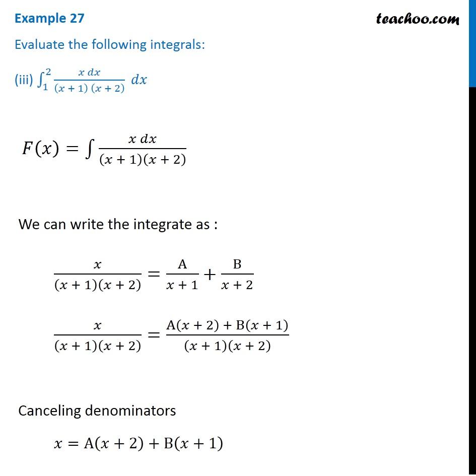 Example 27 - Chapter 7 Class 12 Integrals - Part 7