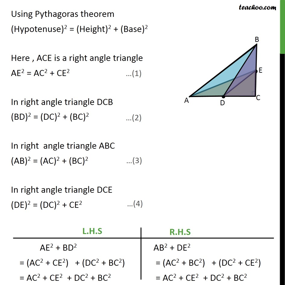Ex 6.5, 13 - Chapter 6 Class 10 Triangles - Part 2
