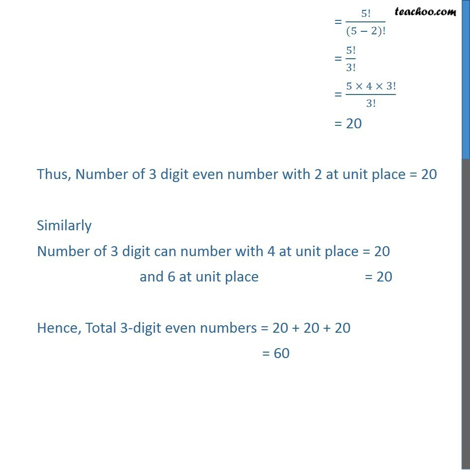 Ex 7.3,3 - Chapter 7 Class 11 Permutations and Combinations - Part 2