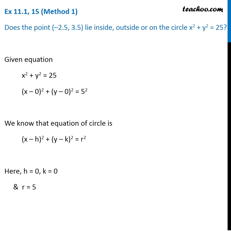 Ex 11.1,  15 - Chapter 11 Class 11 Conic Sections - Part 3