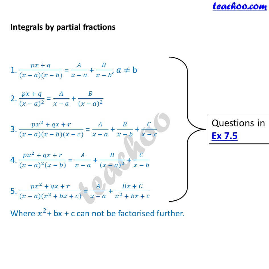4 Integration by partial fractions - Chapter 7 Class 12.JPG