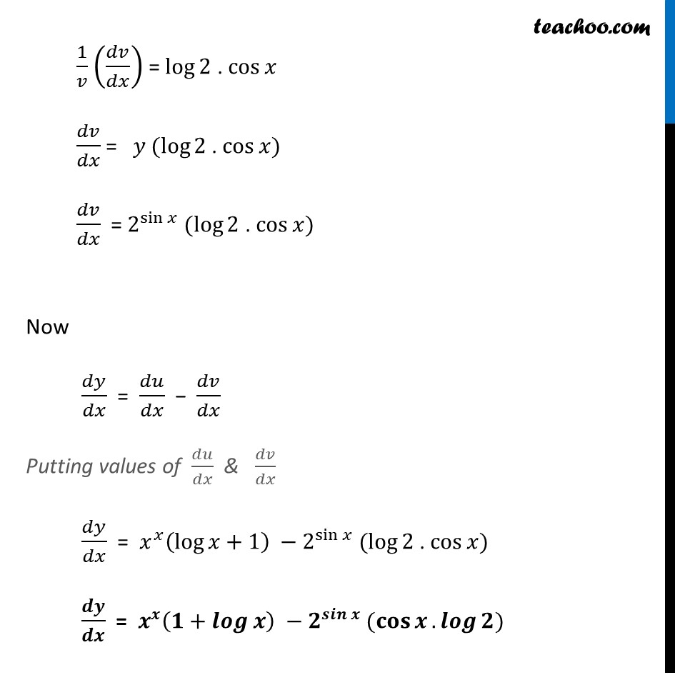 Ex 5.5, 4 - Chapter 5 Class 12 Continuity and Differentiability - Part 5