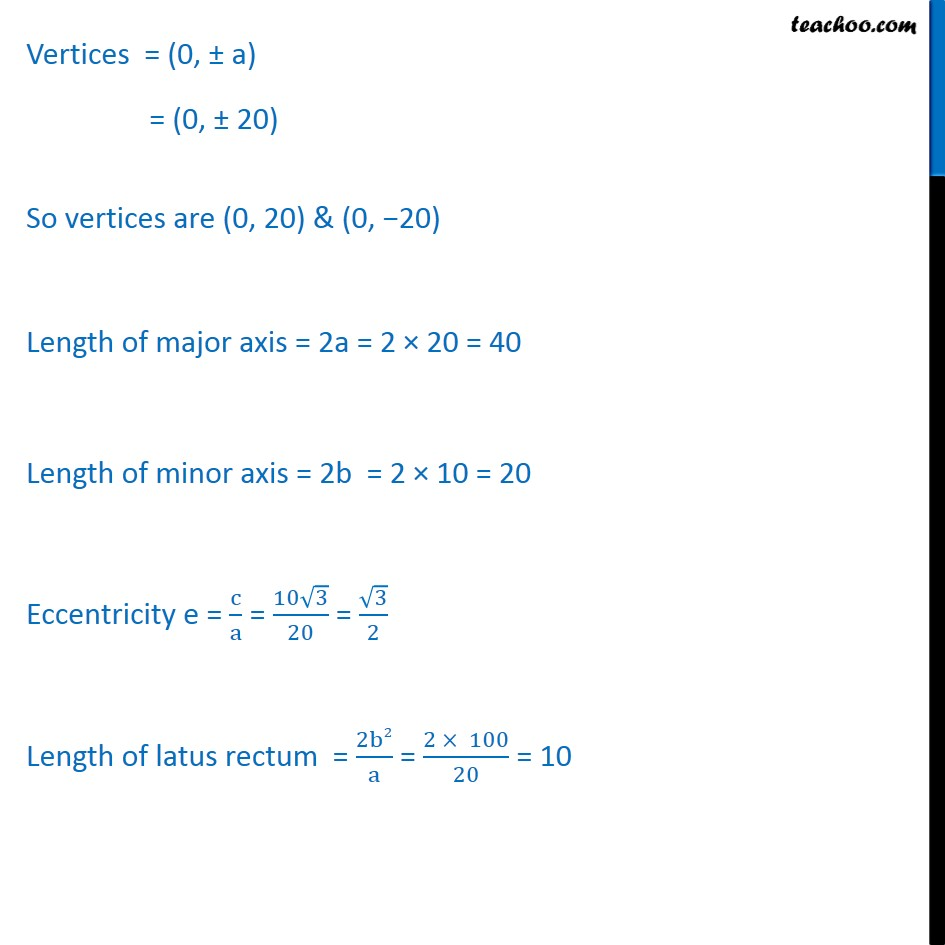 Ex 11.3,  6 - Chapter 11 Class 11 Conic Sections - Part 3