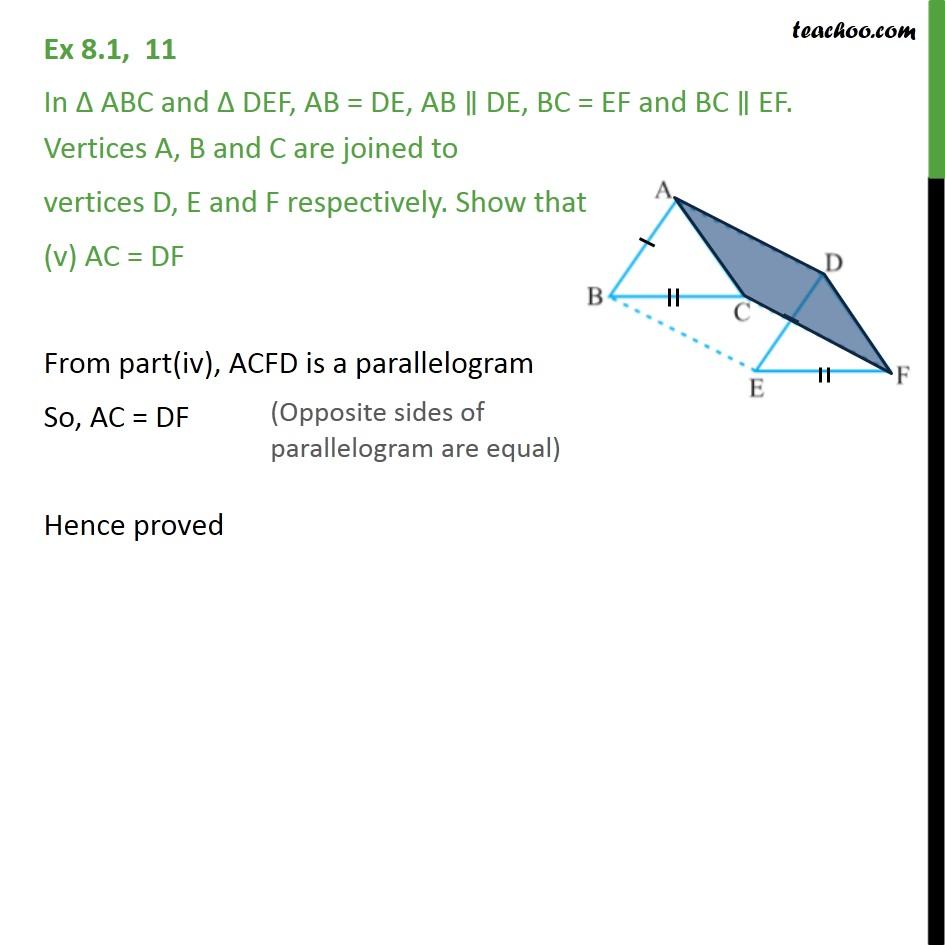 Ex 8.1, 11 - Chapter 8 Class 9 Quadrilaterals - Part 5