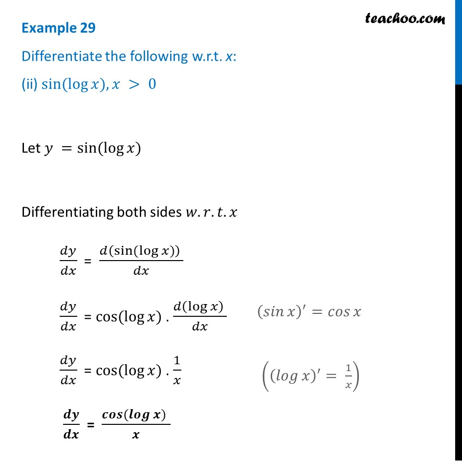 Example 29 - Chapter 5 Class 12 Continuity and Differentiability - Part 2