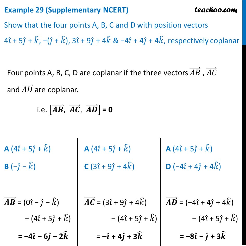 Example 29 (Supplementary NCERT) - Show that A, B, C, D with position