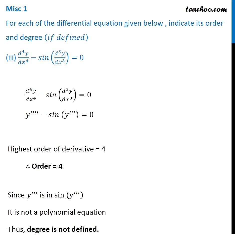 Misc 1 - Chapter 9 Class 12 Differential Equations - Part 3