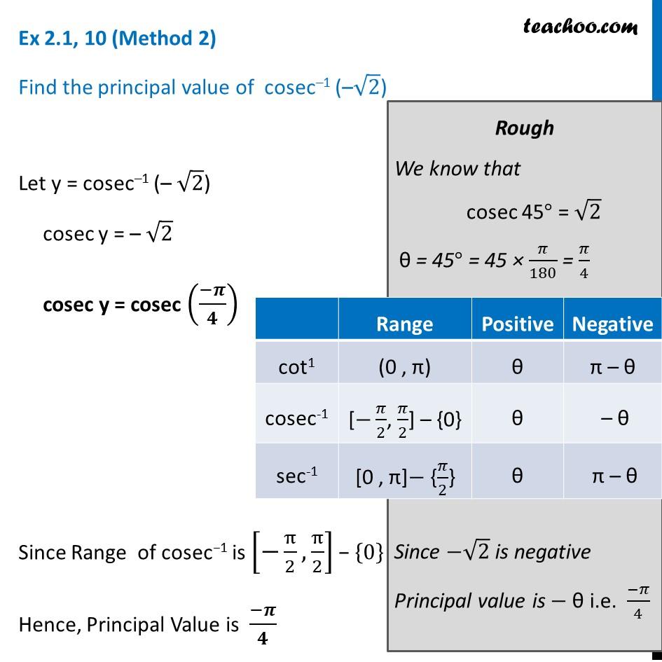 Ex 2.1, 10 - Chapter 2 Class 12 Inverse Trigonometric Functions - Part 2