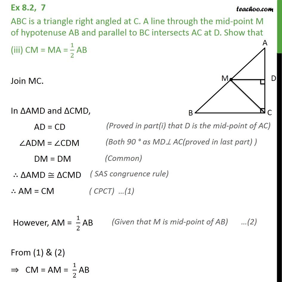 Ex 8.2, 7 - Chapter 8 Class 9 Quadrilaterals - Part 3