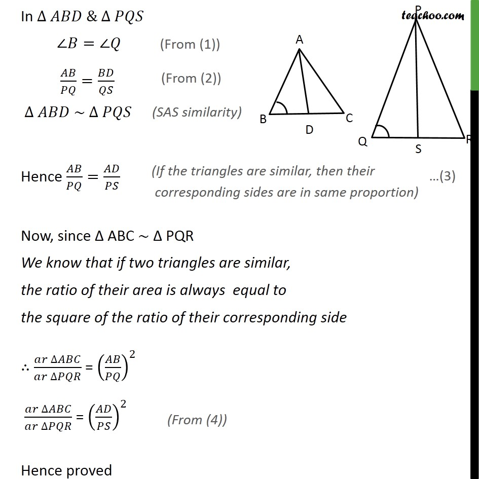 Ex 6.4, 6 - Chapter 6 Class 10 Triangles - Part 3