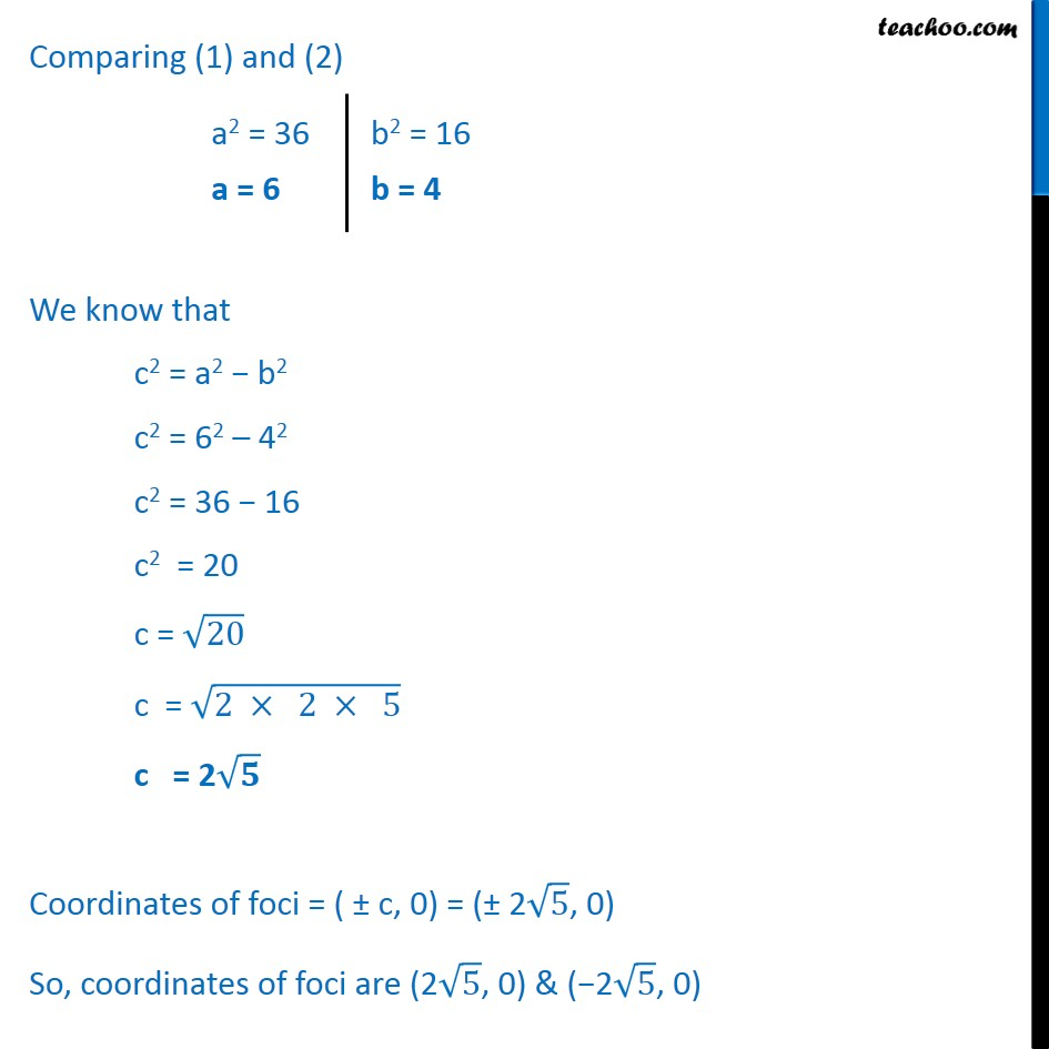 Ex 11.3,  1 - Chapter 11 Class 11 Conic Sections - Part 2
