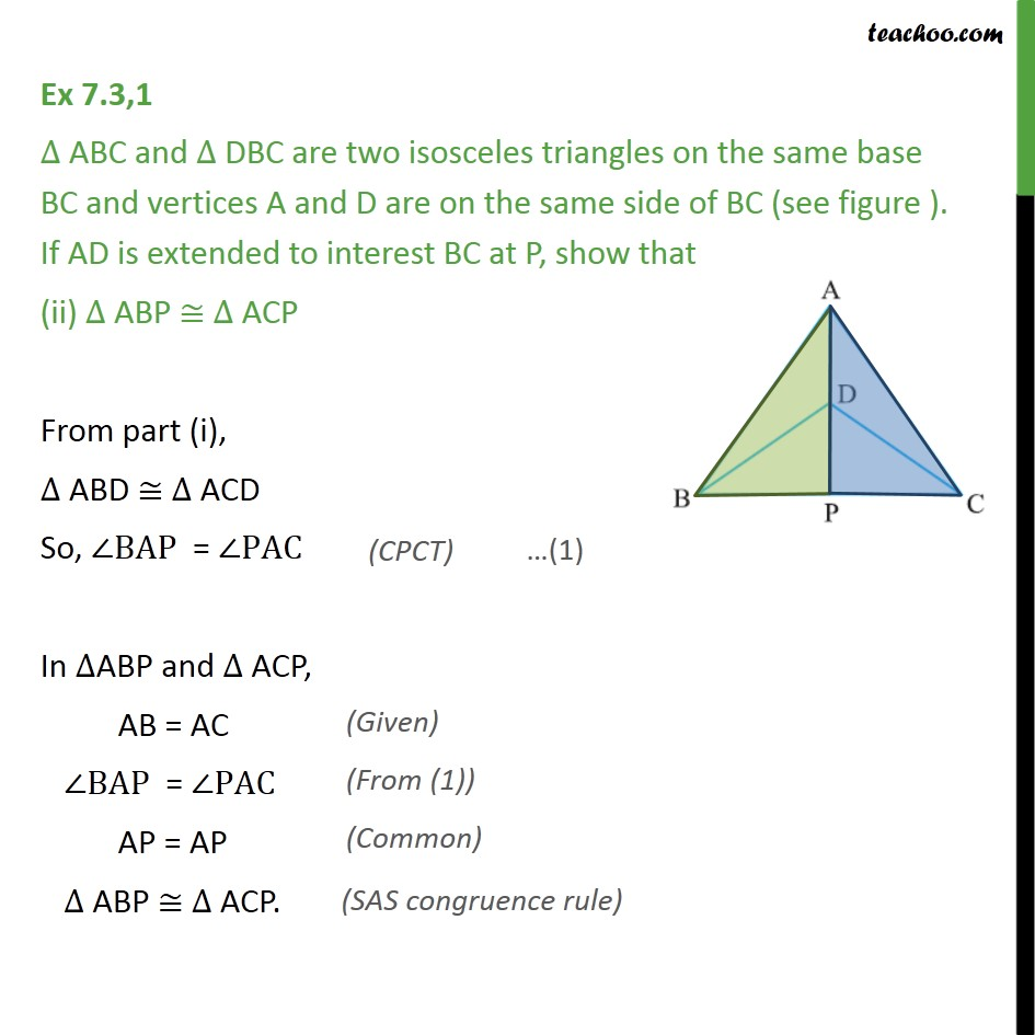 Ex 7.3, 1 - Chapter 7 Class 9 Triangles - Part 3