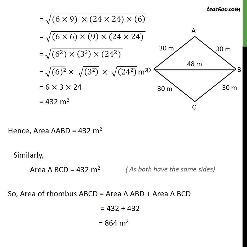 Ex 12.2, 5 - Chapter 12 Class 9 Herons Formula - Part 3