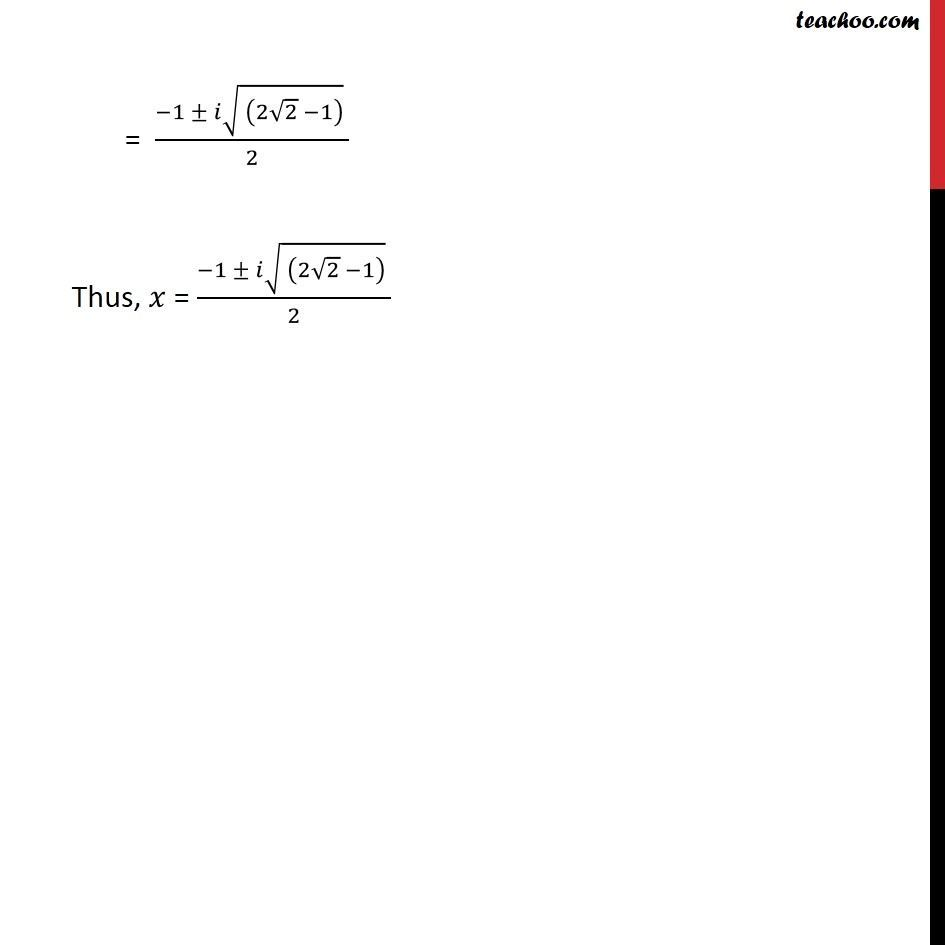 Ex 5.3, 9 - Chapter 5 Class 11 Complex Numbers - Part 3