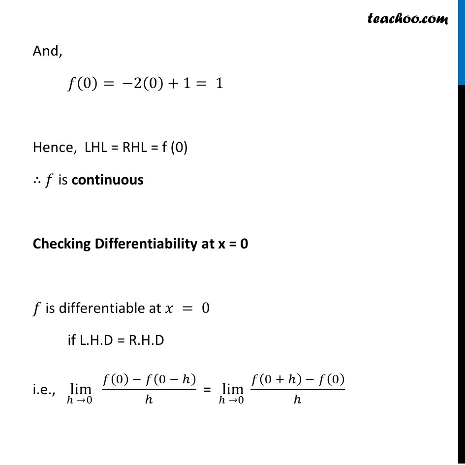 Misc  21 - Chapter 5 Class 12 Continuity and Differentiability - Part 5