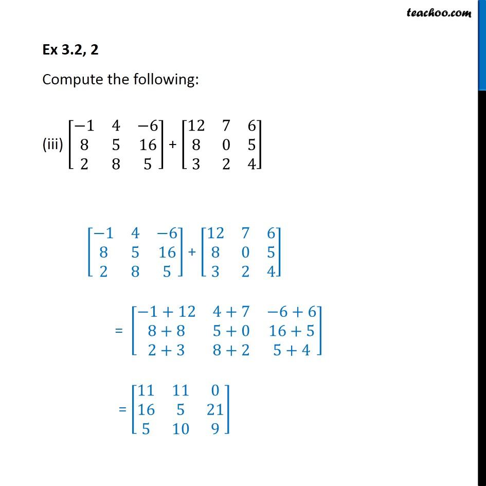 Ex 3.2, 2 - Chapter 3 Class 12 Matrices - Part 3