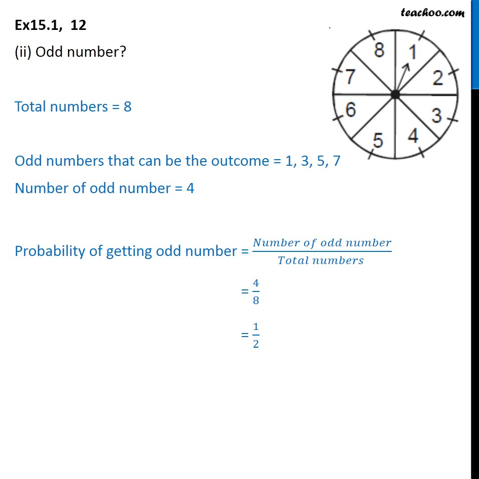 Ex 15.1, 12 - Chapter 15 Class 10 Probability - Part 2