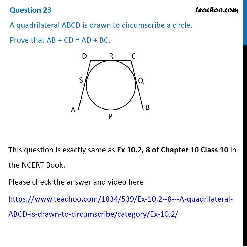 Question 23 - Maths Basic - CBSE Sample Paper 2021 - Teachoo