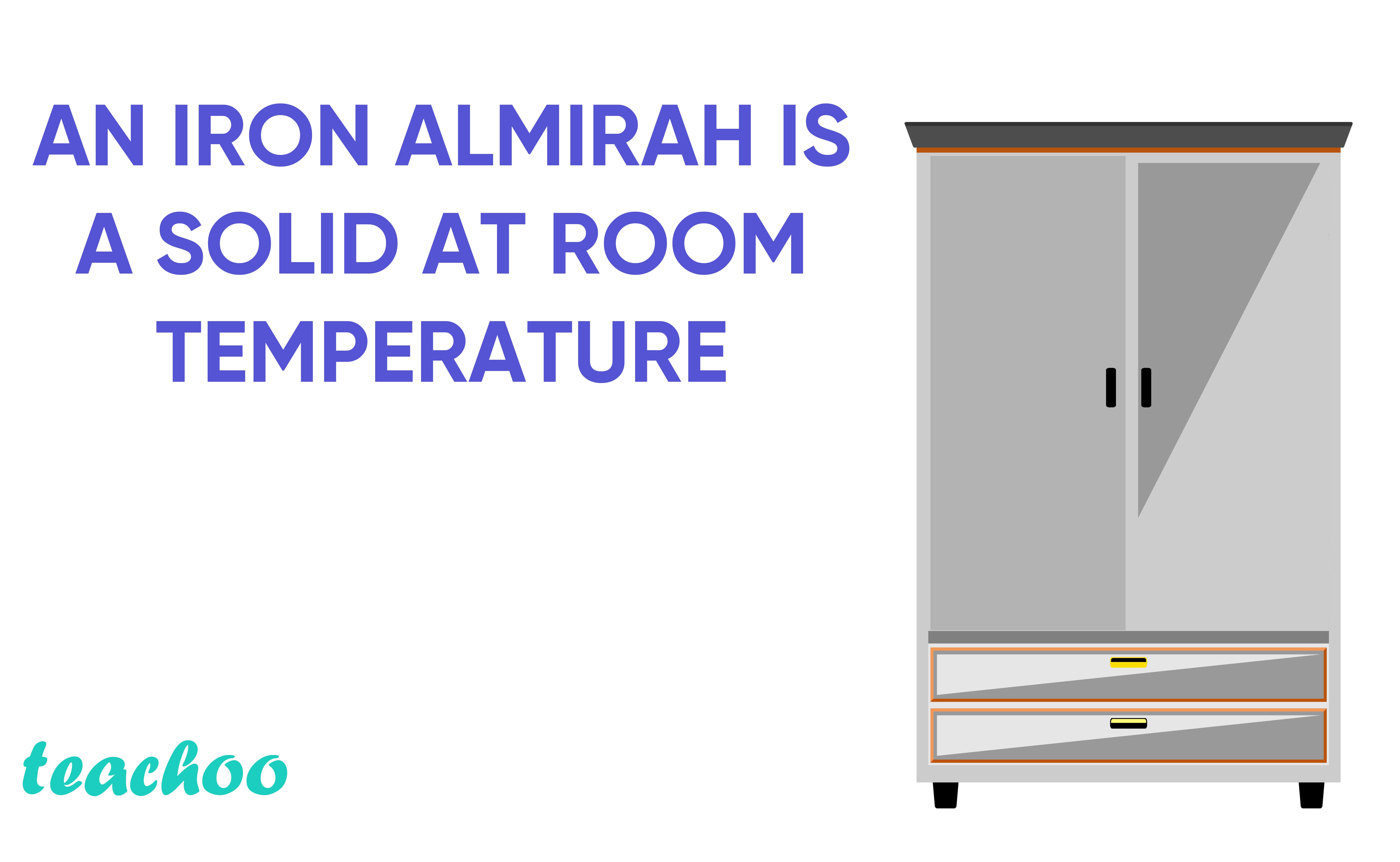 An Iron Almirah is a solid at room temperature-Teachoo.jpg