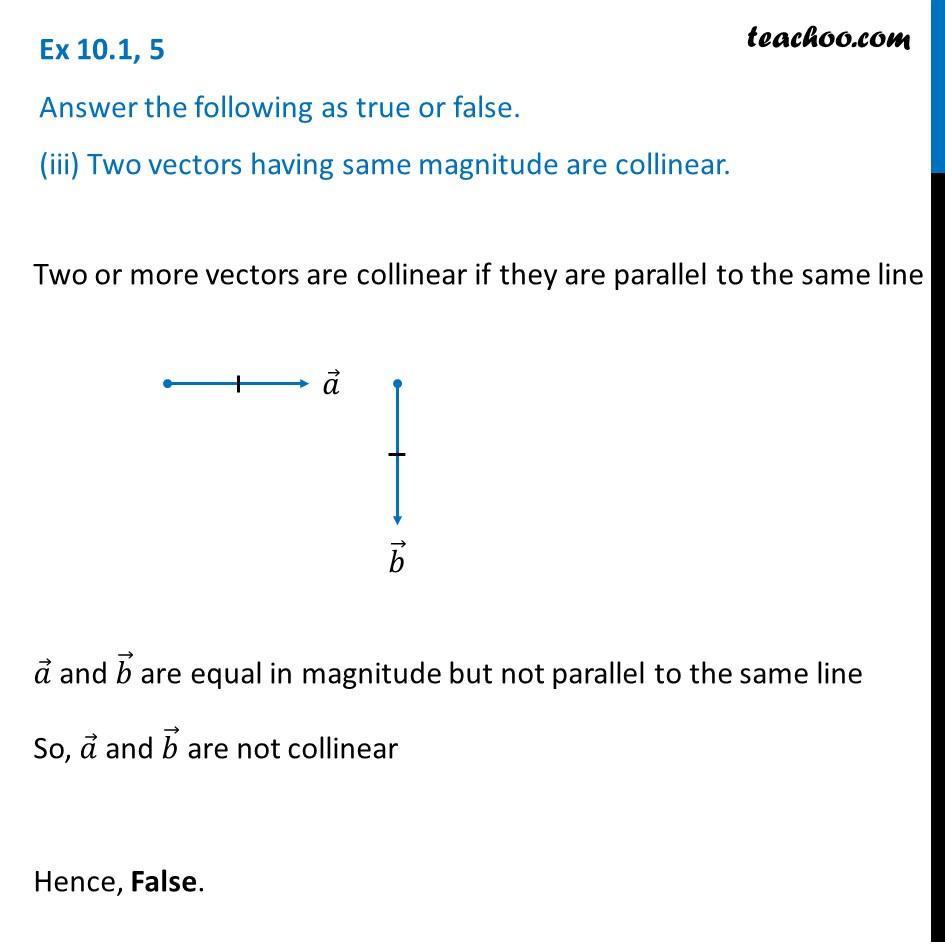 Ex 10.1, 5 - Chapter 10 Class 12 Vector Algebra - Part 3