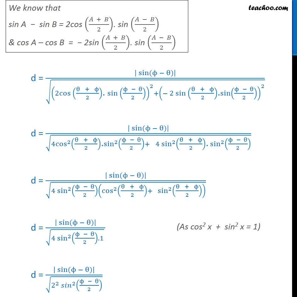 Misc 5 - Chapter 10 Class 11 Straight Lines - Part 5