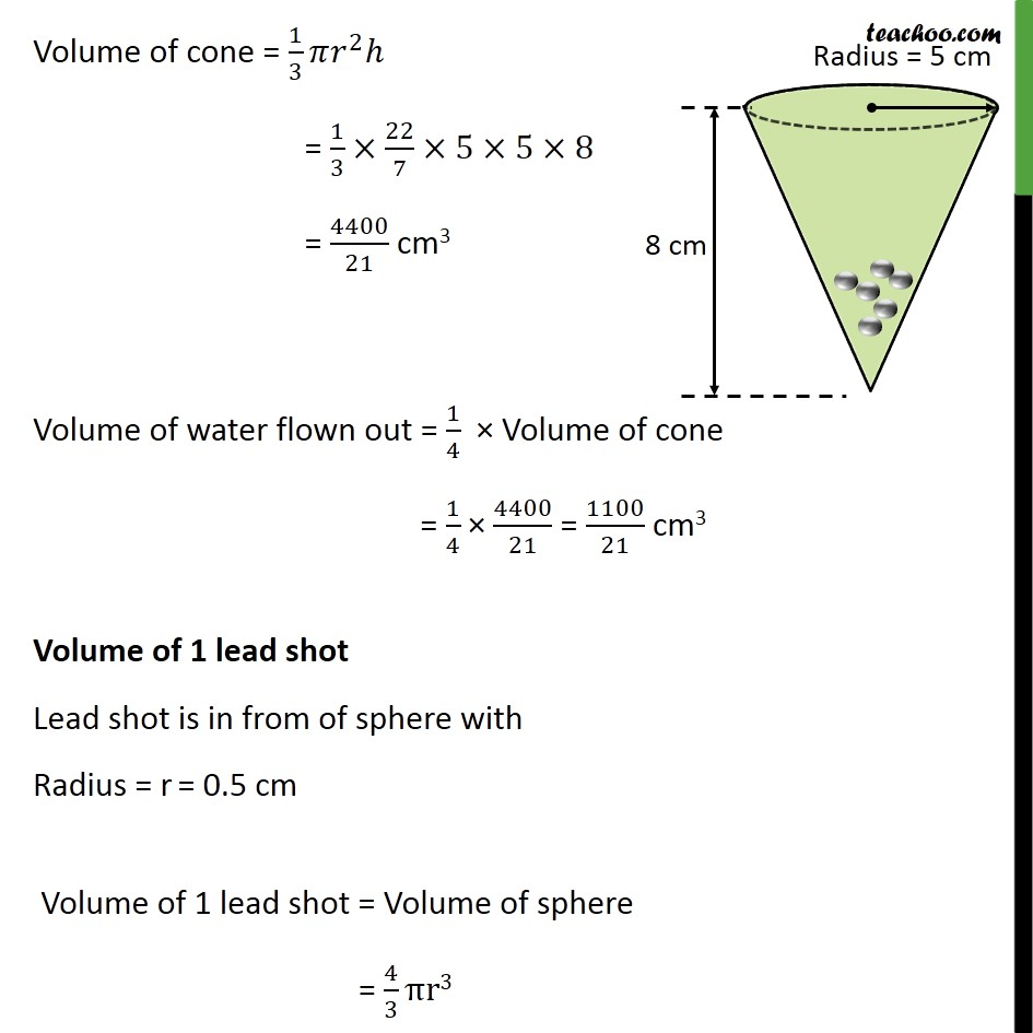 Ex 13.2, 5 - Chapter 13 Class 10 Surface Areas and Volumes - Part 2