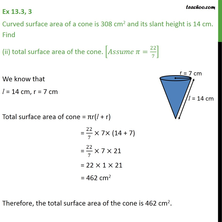 Ex 13.3, 3 - Chapter 13 Class 9 Surface Areas and Volumes - Part 2