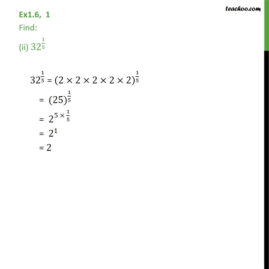 Ex 1.6,1 - Chapter 1 Class 9 Number Systems - Part 2