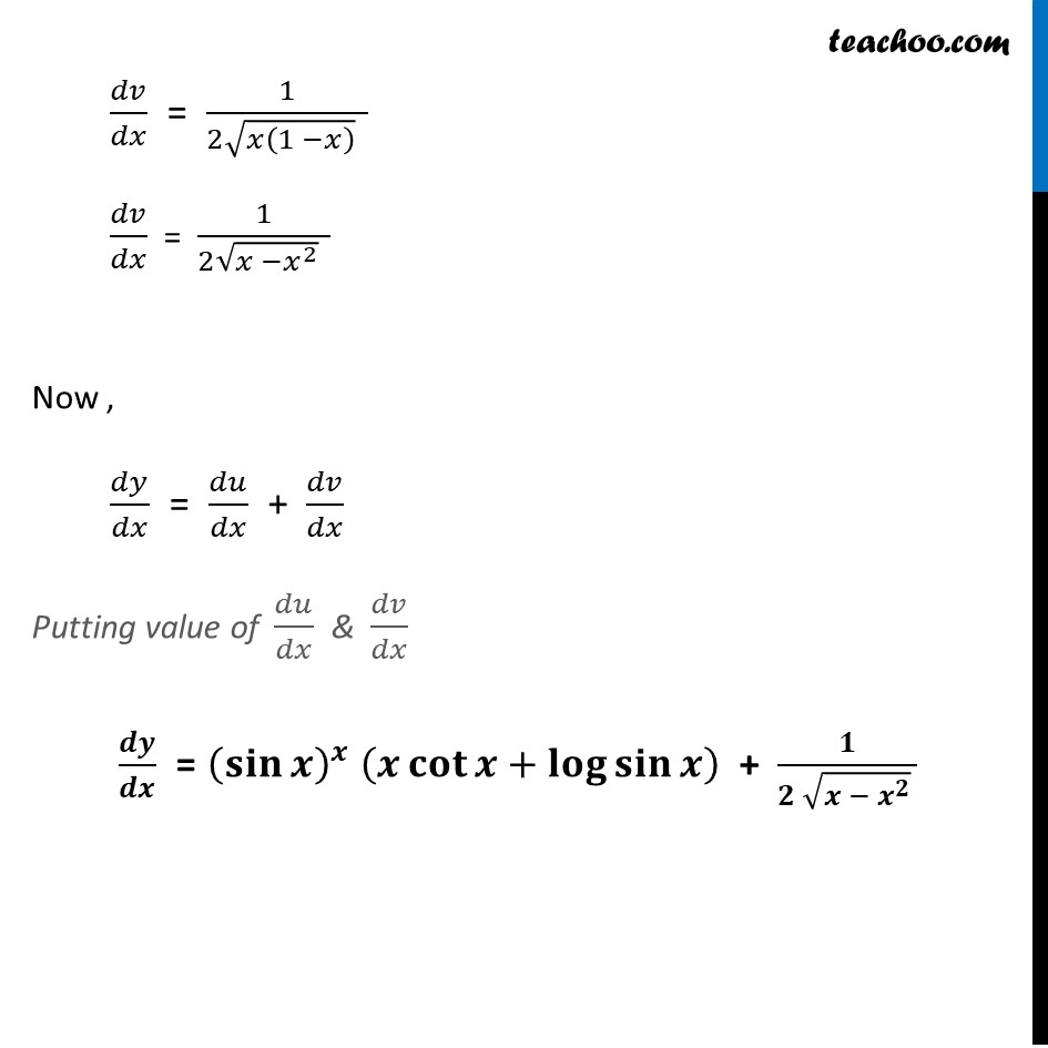 Ex 5.5, 8 - Chapter 5 Class 12 Continuity and Differentiability - Part 5