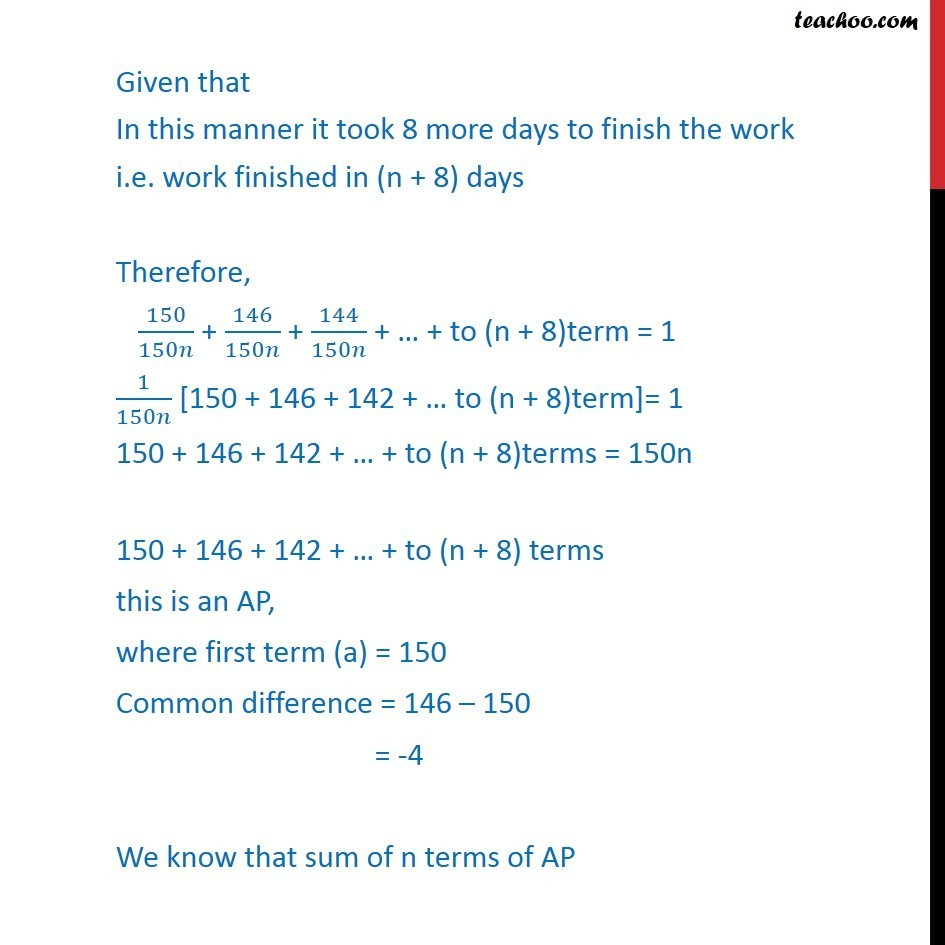Misc 32 - Chapter 9 Class 11 Sequences and Series - Part 2